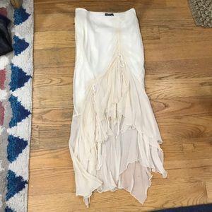 Bebe ruched skirt